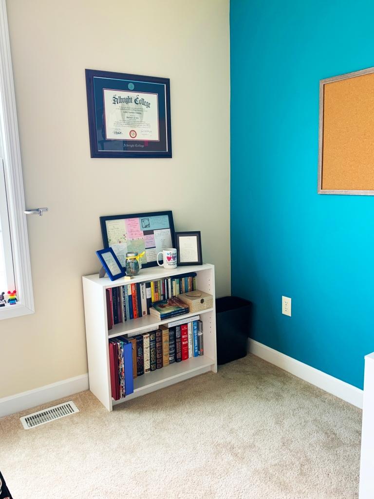 Another Girl Named Ashley - My Home Office - Bookshelf Corner